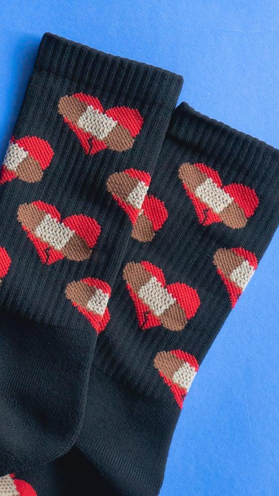 Image of BHC LOGO Knit Crew Socks