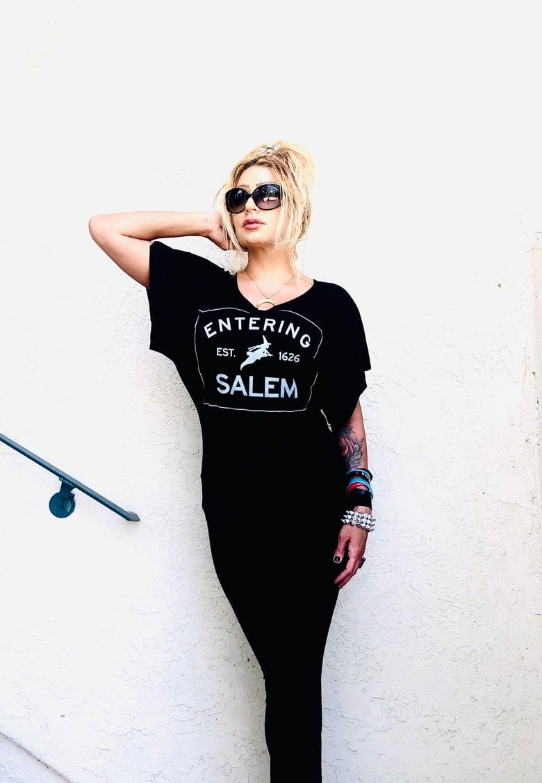 Image of Entering Salem Draped Top