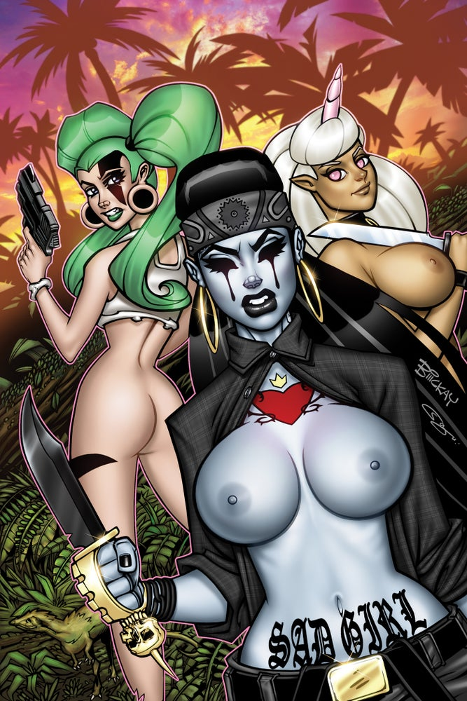 Image of Sad Girl Psycho Baby #3 Risque McKay Variant
