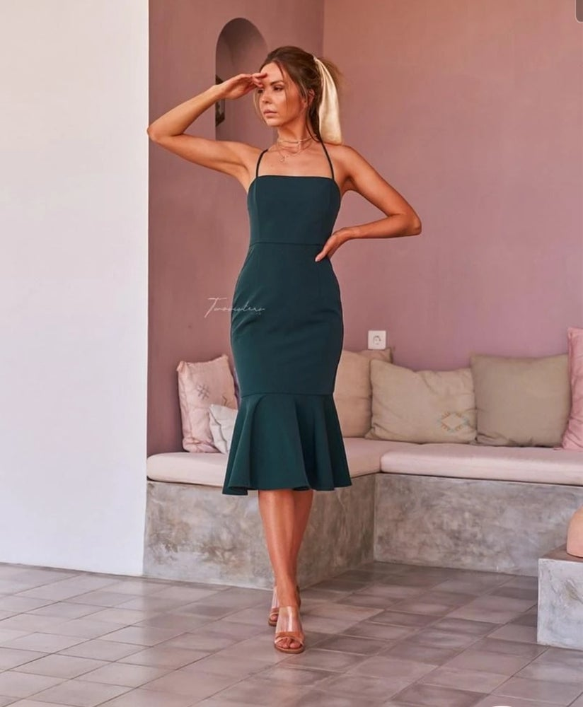 Image of Eveleen dress. Green. Two Sisters the Label.
