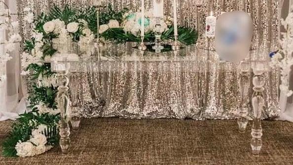 Acrylic clear bride&groom or cake table