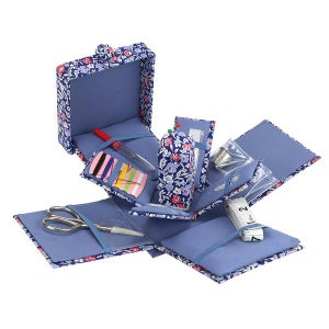 Image of  Liberty of London Primula Dawn Victorian Sewing Box & accoutrements