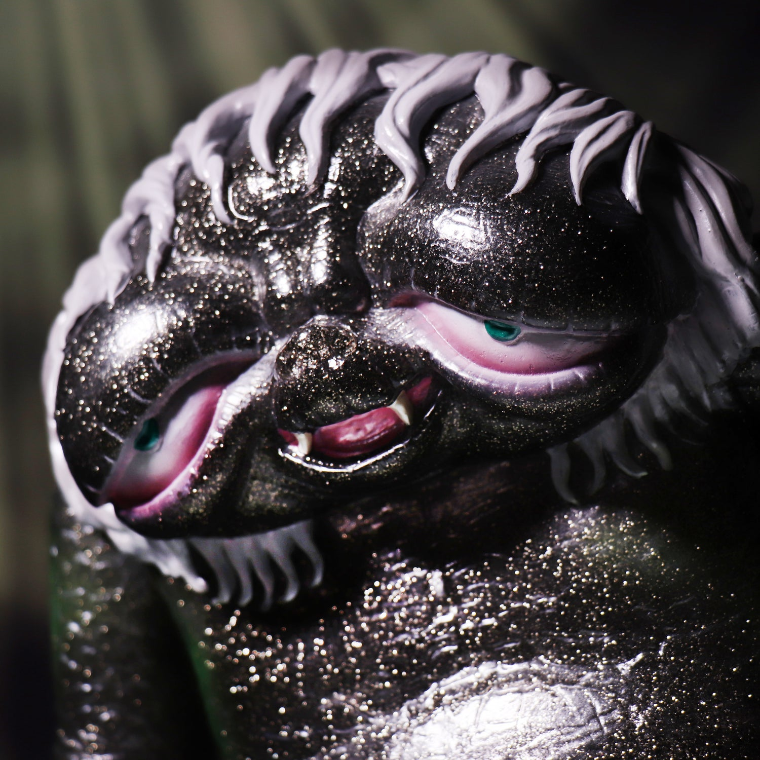 Image of THE LOVELY MONSTER 'BLACK VINYL & SILVER GLITTER' EDITION