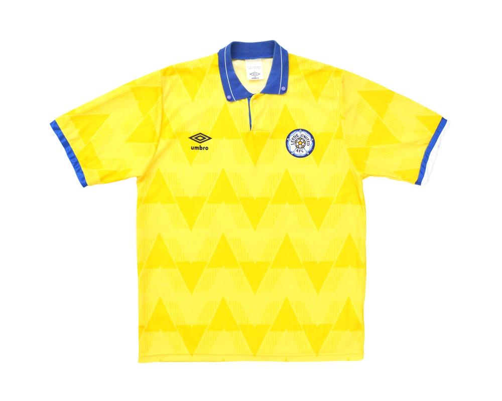 Image of 1989-91 Umbro Leeds United Away Shirt M