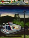 Oregon Service Station - Original Painting