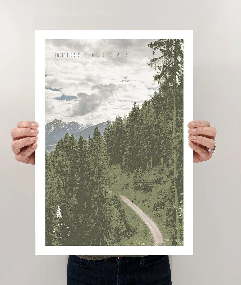 """Sweetness Follows"" Biking Poster"