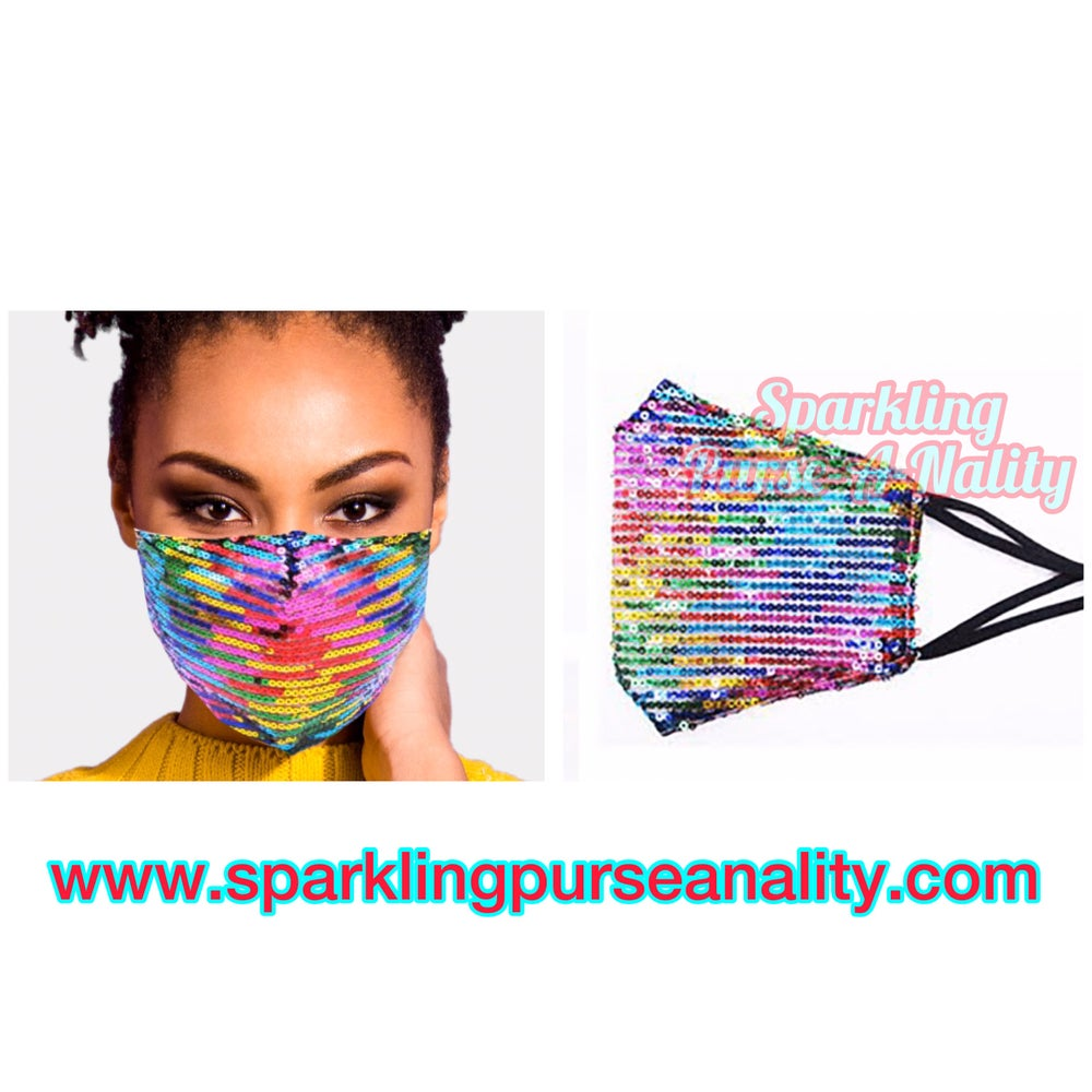 "Image of ""Sparkling"" Rainbow Mask"