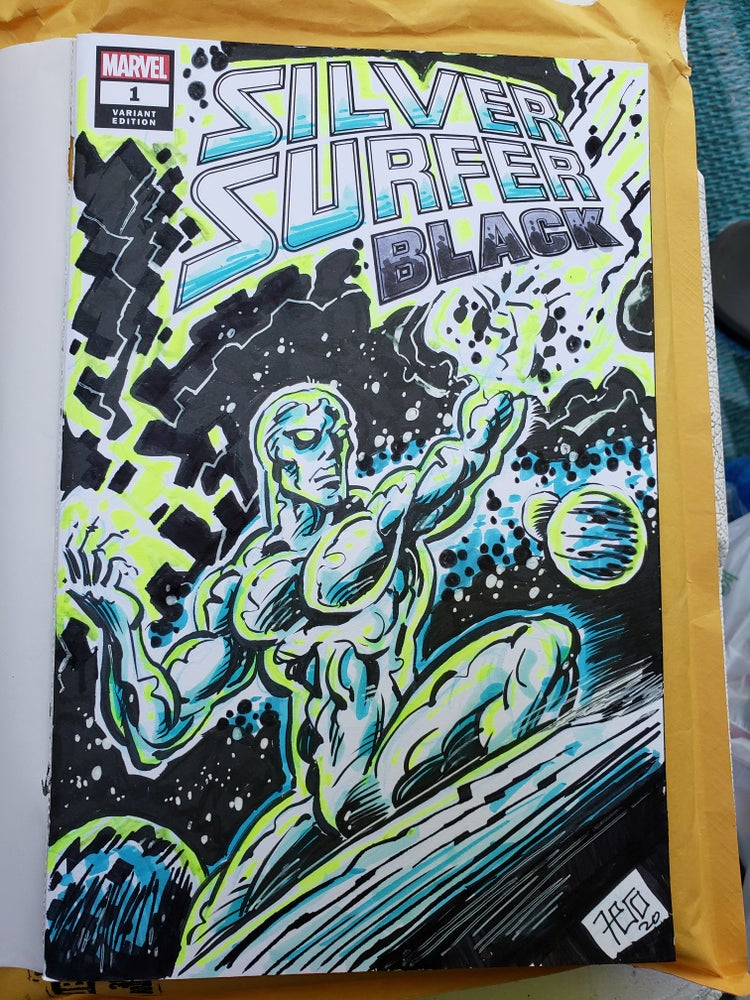 Image of Silver Surfer sketch cover