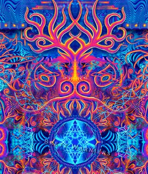 Image of Fire & Ice Tapestry / Prints