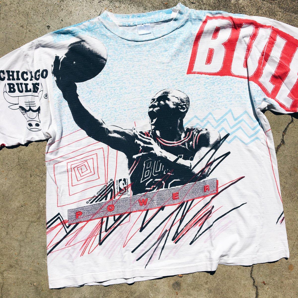 Image of Original 90's Magic Johnson T's Michael Jordan Tee.