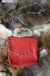 Hellbent Simple red leather waist pouch