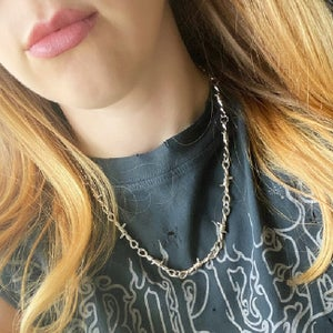 Image of No Tresspassing Barbed Wire Necklace