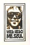 Neil Young. Well, Hello Mr. Soul. Hand Made. Original A4 linocut print.