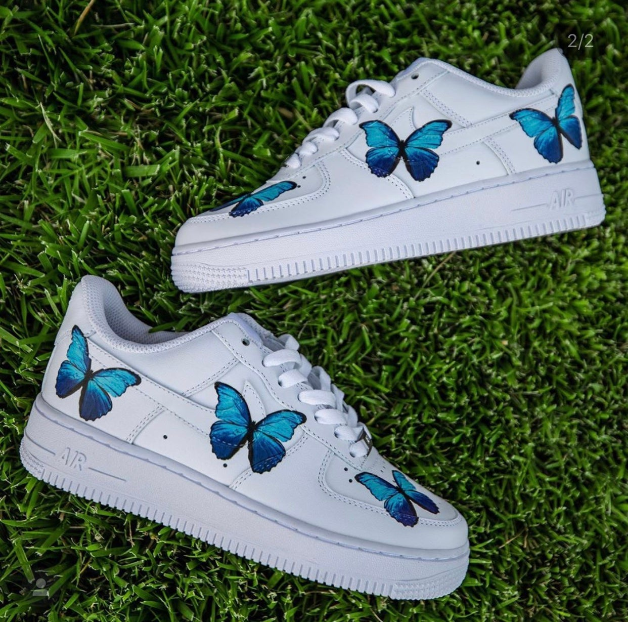 Blue butterfly AF1 | wearicedout