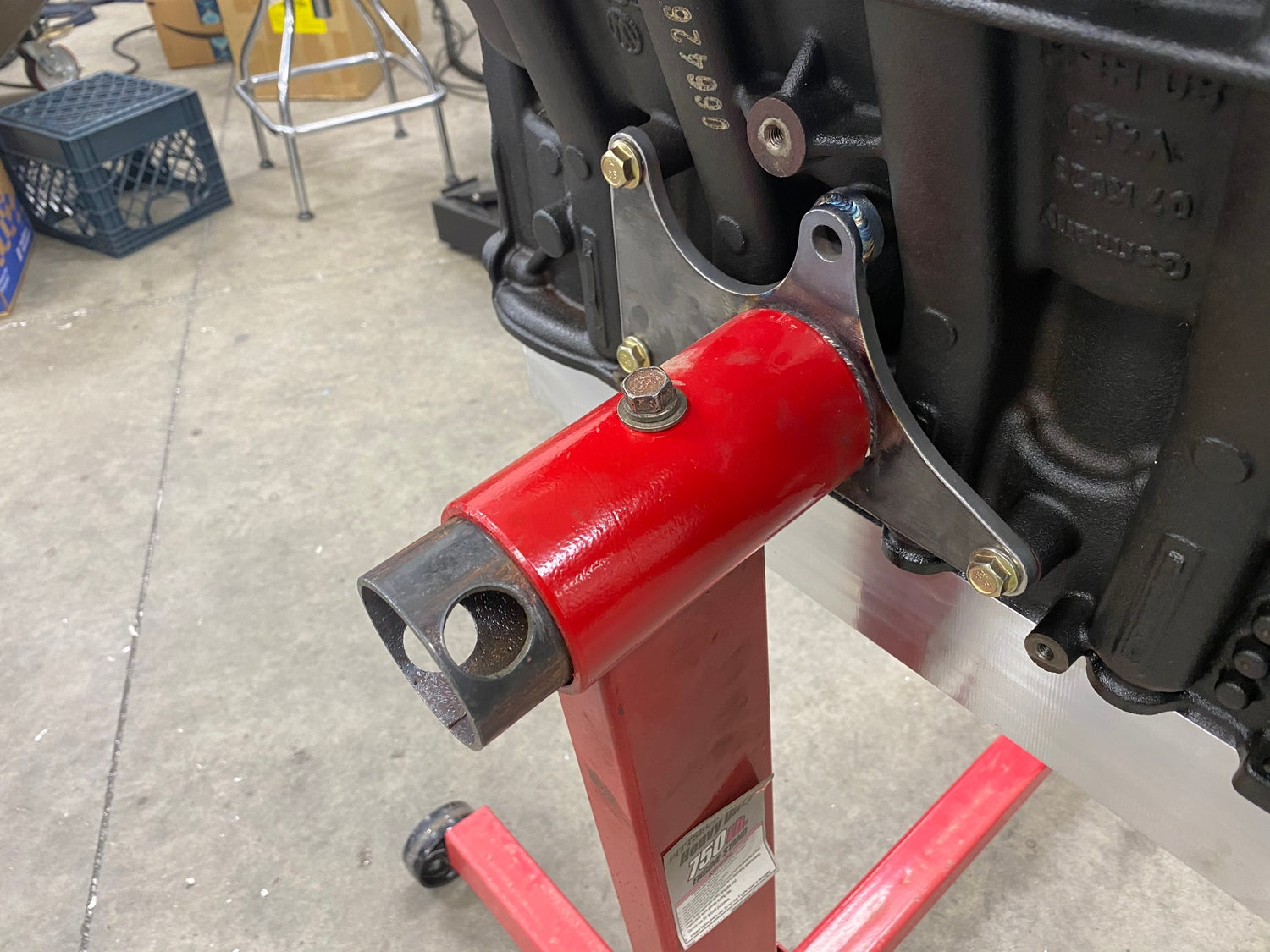Image of LPS 07k DIY engine stand adapter
