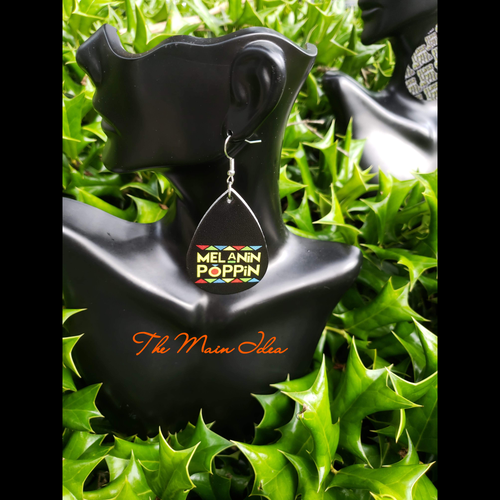 Image of Vegan leather tear drops ( 3 STYLES) scroll for images