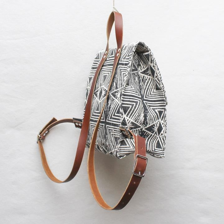 Image of Evil Eye Block Print Small Backpack