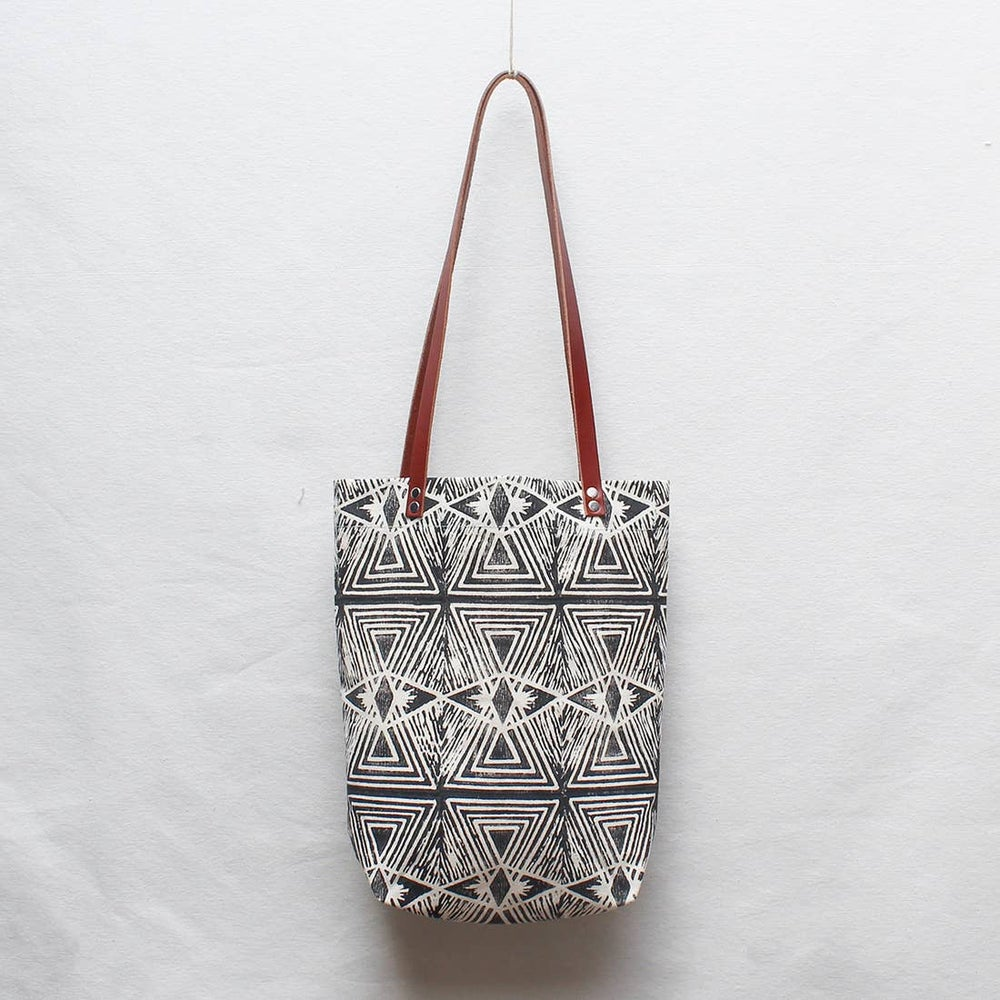 Image of Evil Eye Block Print Small Tote
