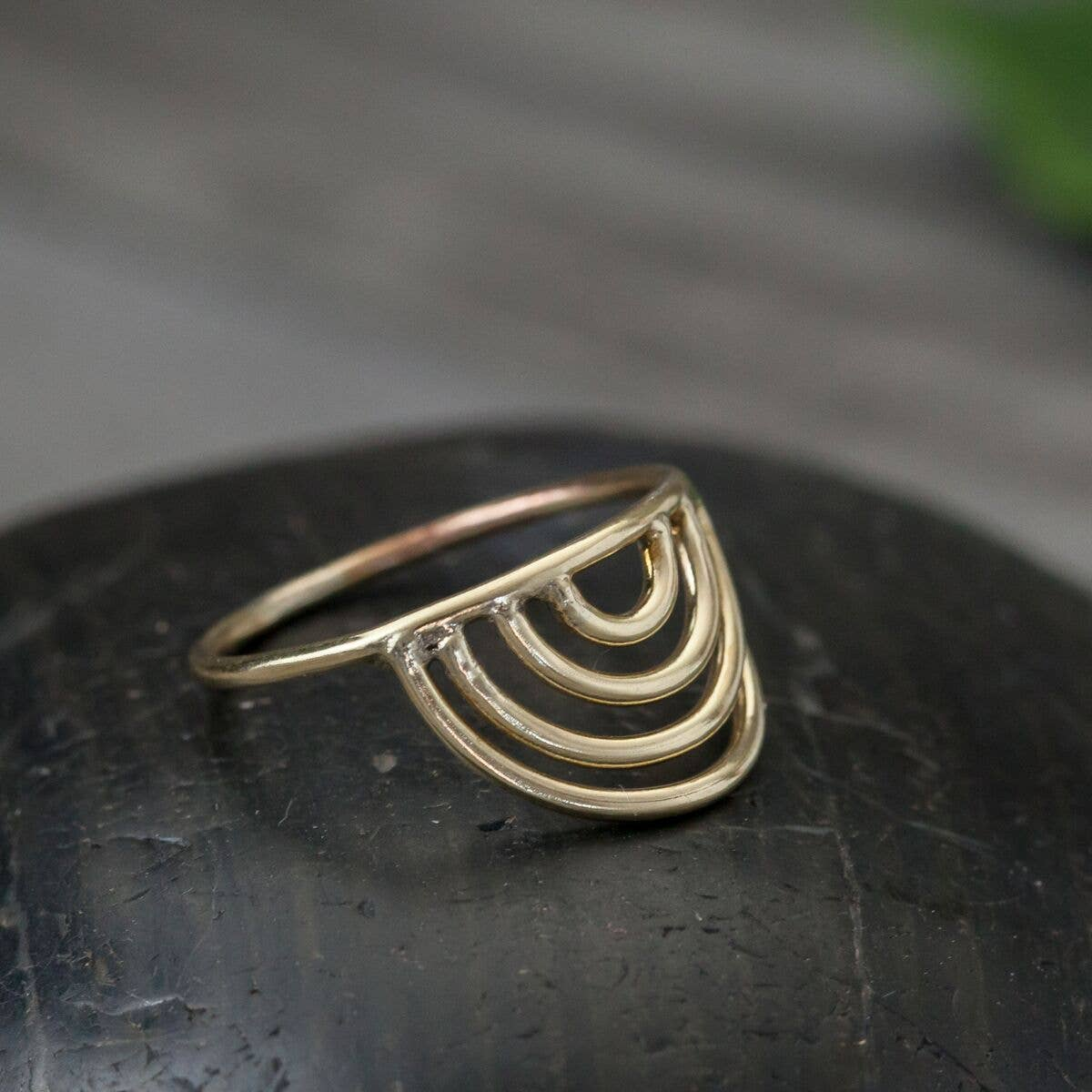 Image of Brass Rainbow Ring