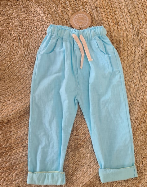 Image of Linen look boys pant.