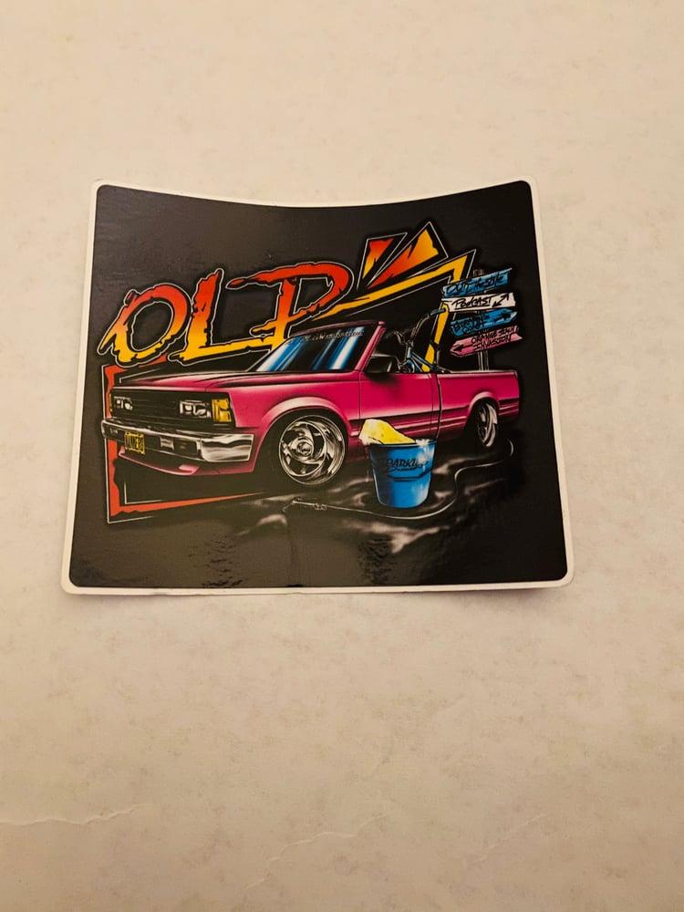 Image of Mike Dominguez (Tilt Bed) Front  Sticker