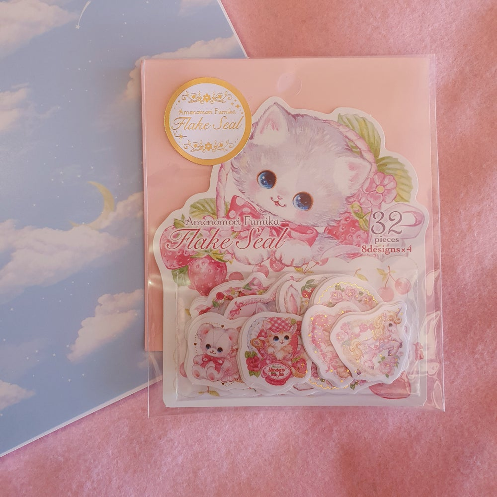 Image of Japanese Stickers - Flake Seals - Gold Foil - Kawaii Stationery!