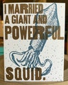 Squid Nuptials Greeting Card