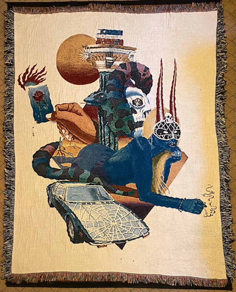 Image of Serpent Merchant and the Desert Rose woven blanket