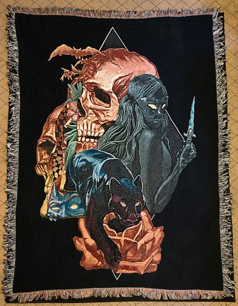Image of Night Rose woven blanket