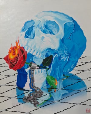 Image of Chained to The Final Rose woven blanket