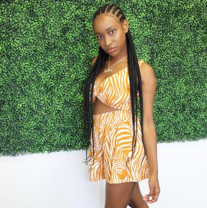 Image of Orange   Short Set