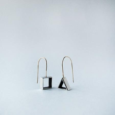 Image of Open Square / Triangle / Copper or Silver