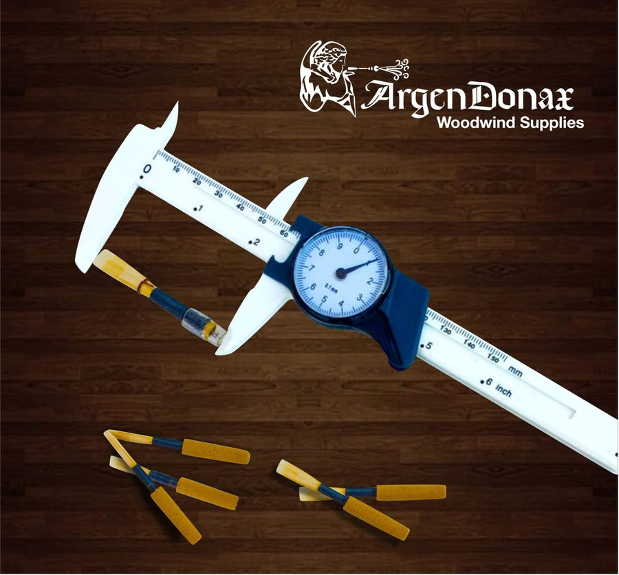 Image of Oboe Bassoon Reed Measuring Tool Metric Dial Caliper