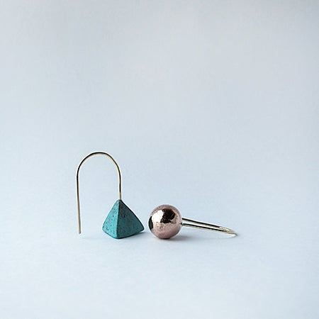 Image of Copper Patina Triangle / Copper Ball