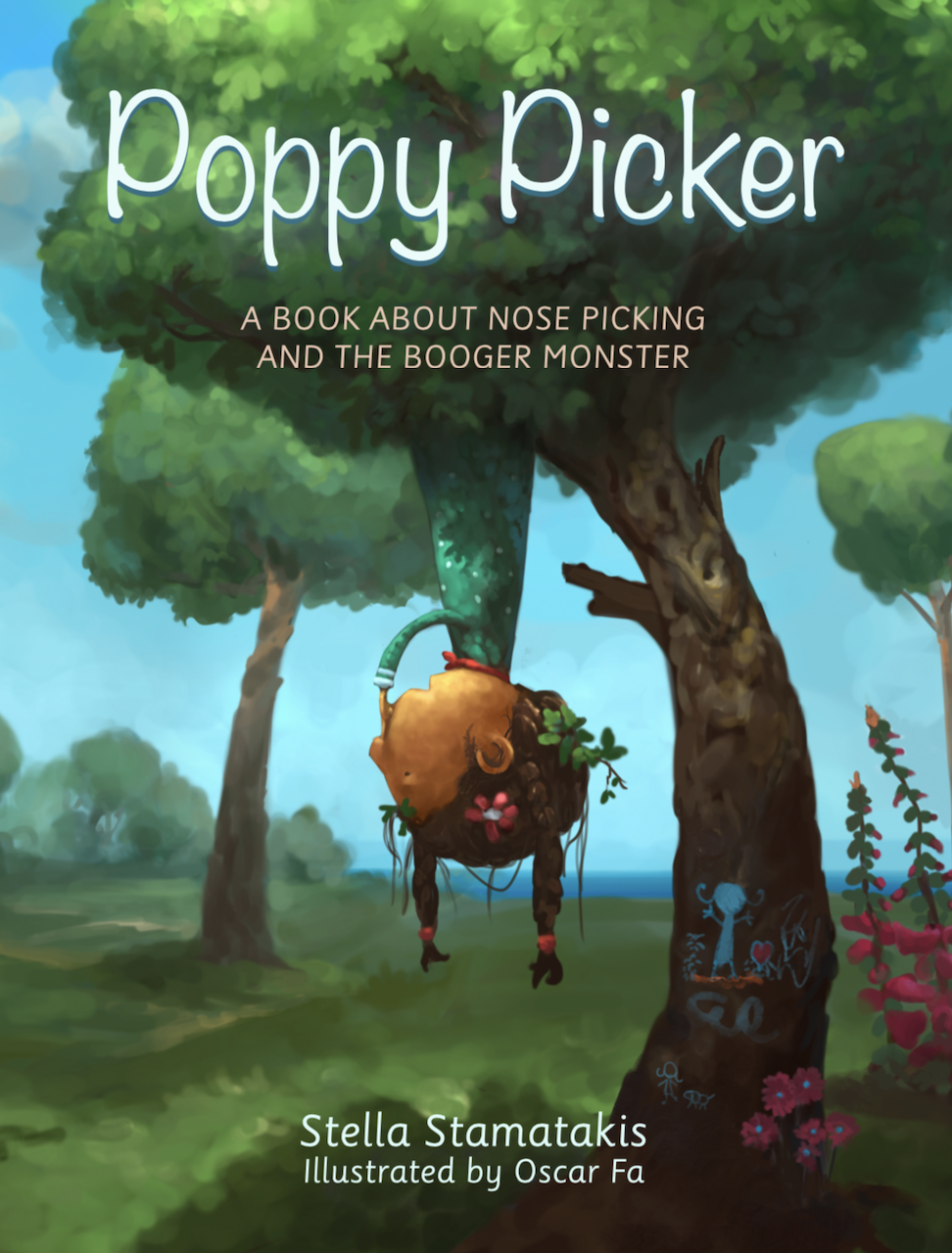 Image of Poppy Picker,  a book about nose picking and the Booger Monster. Paper back