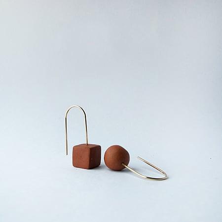 Image of Terra Cotta Cube / Ball