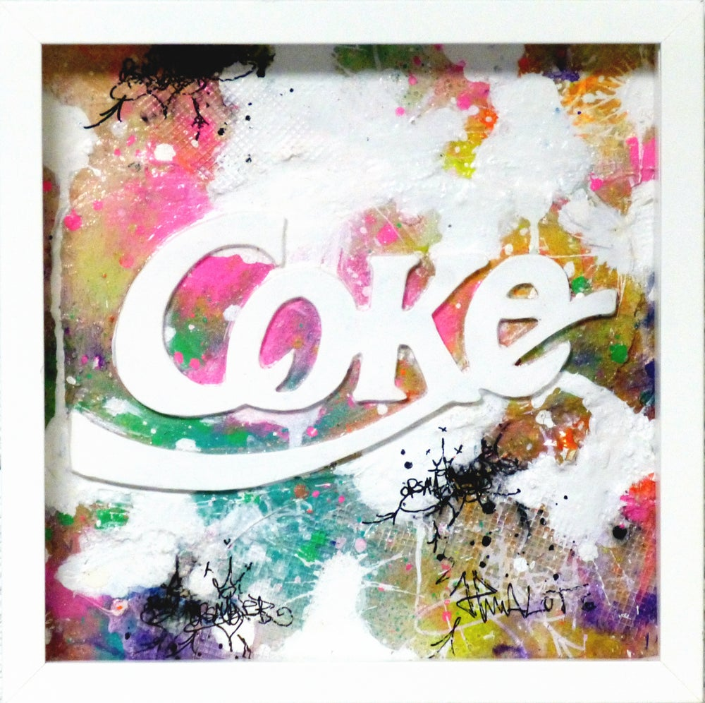 Image of COKE SCULPTURE IN FRAME