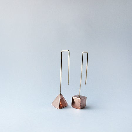 Image of Copper Triangle / Copper Cube / Small