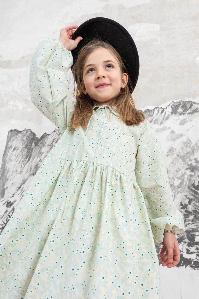 Image of - 50% THE DAY DRESS ice blues allover