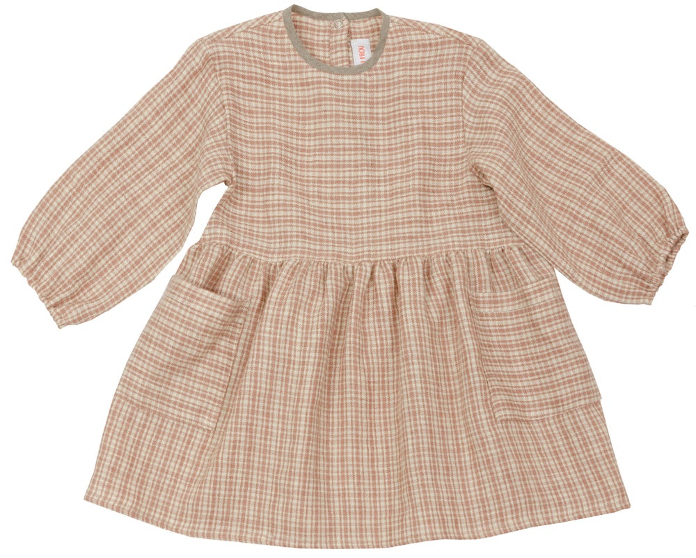 Image of - 30% THE DAY DRESS, rose checked