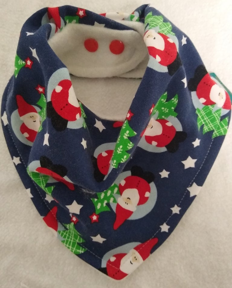 Image of Teen/Adult Santa Bandana Bib