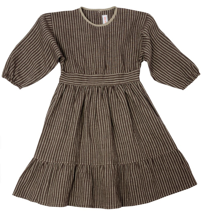 Image of - 50%   DRESS MARIE black striped