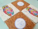 Image 4 of 'Rainbow Owl' Stone Coaster