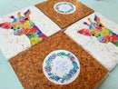 Image 4 of 'Rainbow Giraffe' Stone Coaster