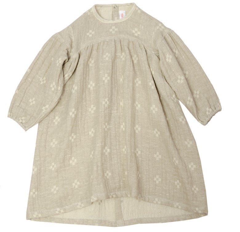 Image of DRESS SOPHIE   off white - mud