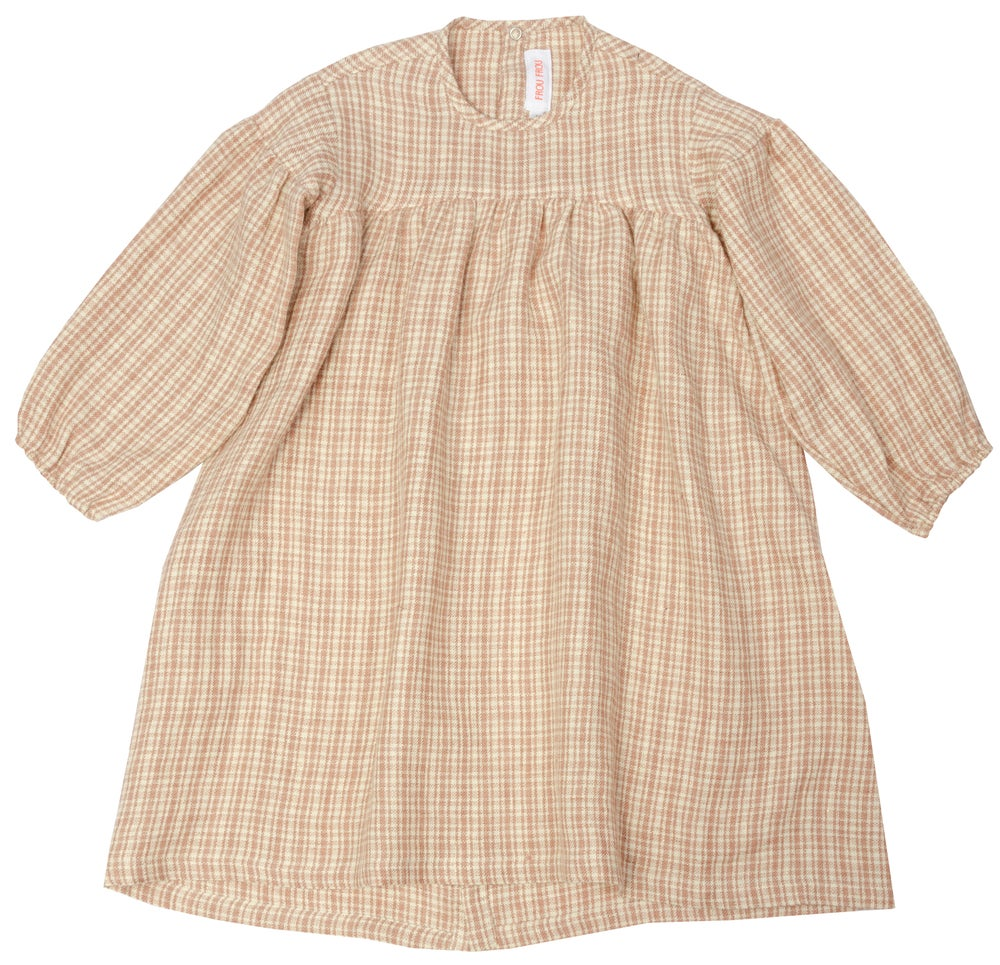 Image of - 50% DRESS SOPHIE  checked rose