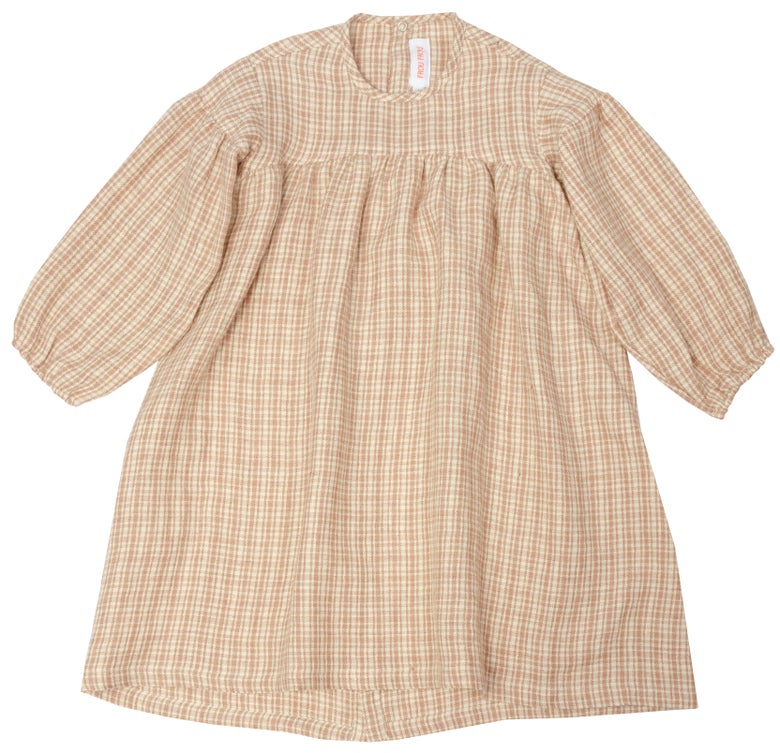 Image of DRESS SOPHIE  checked rose