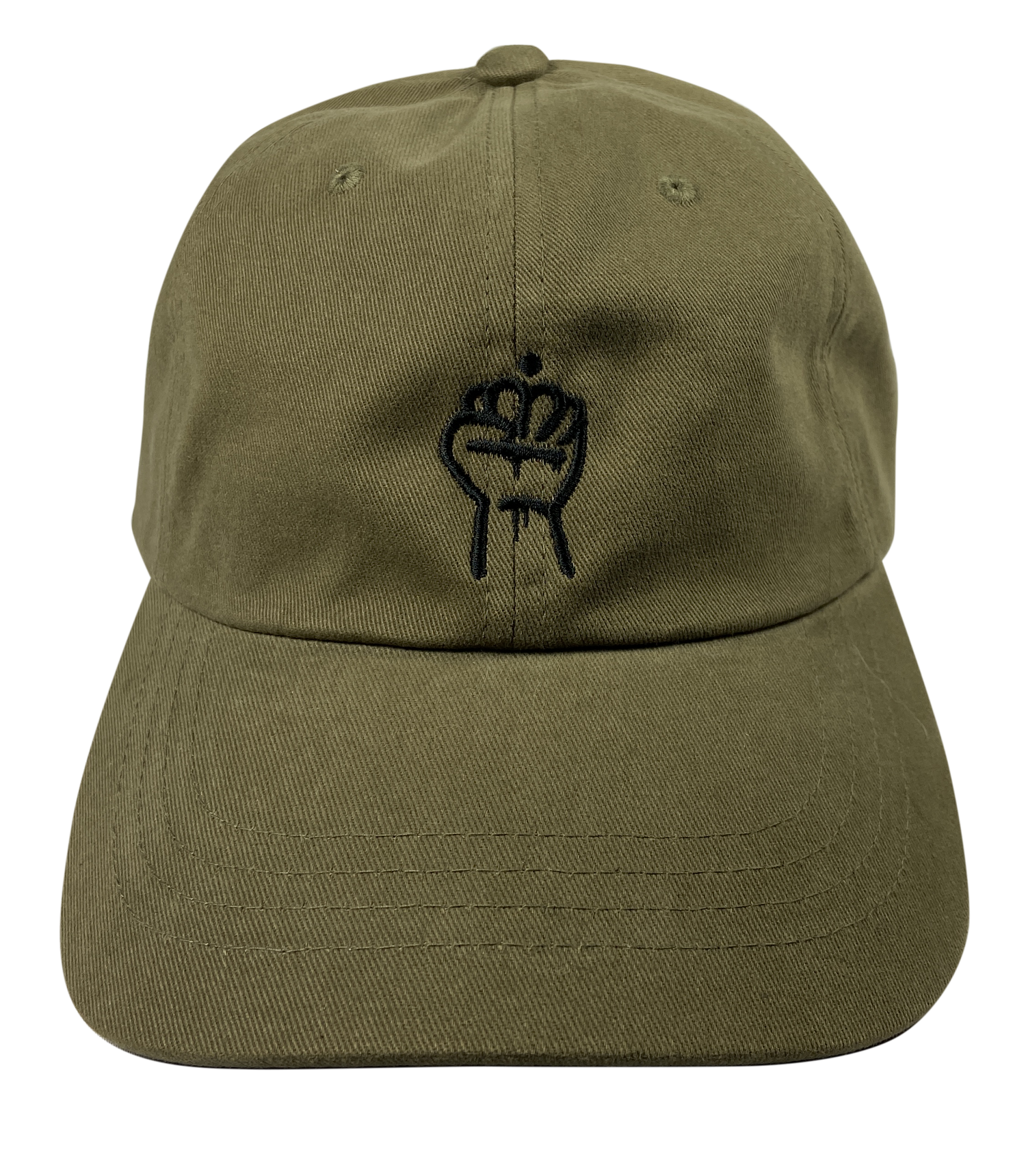 Image of QC Fist Twill Dad Hat (Loden)