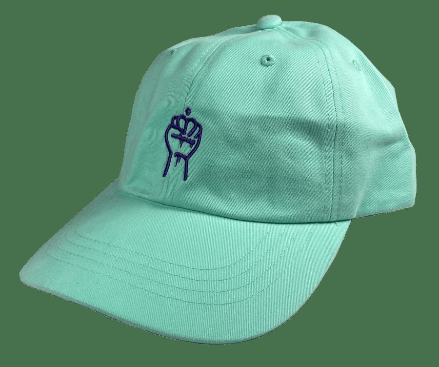 Image of QC Fist Twill Dad Hat (Diamond Blue)