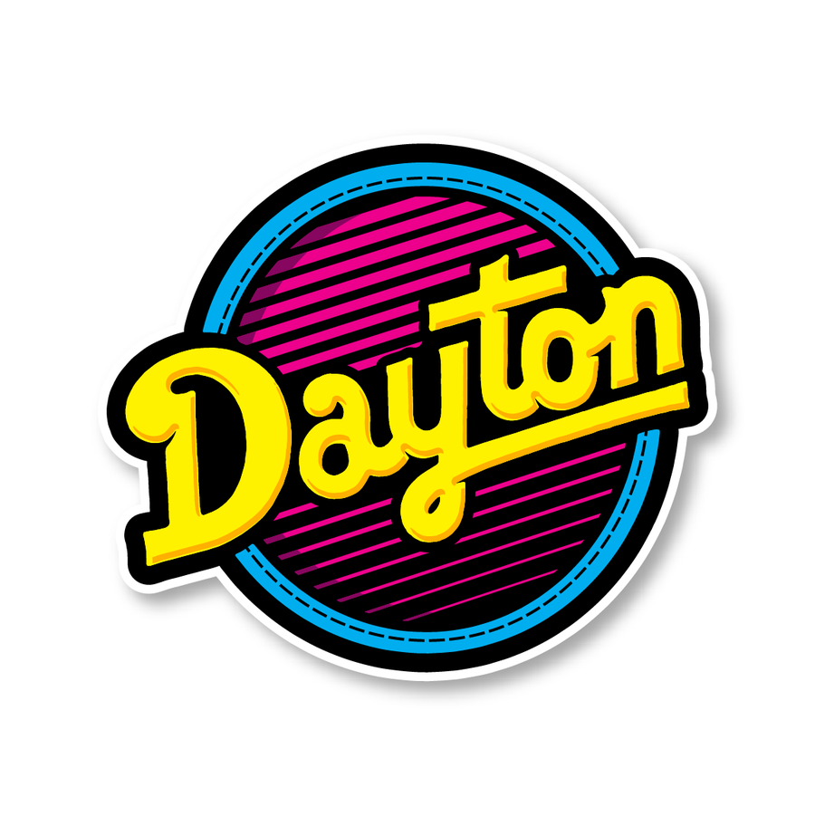 Image of Dayton 80s Sticker